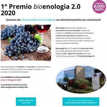 1° Premio Bioenologia 2.0    2020